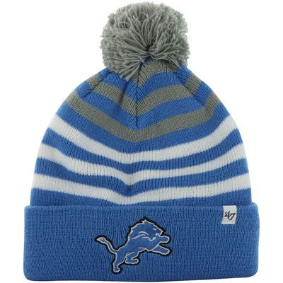 Detroit Lions '47 Brand Youth Yipes Cuff w/Pom Knit Beanie – Light Blue