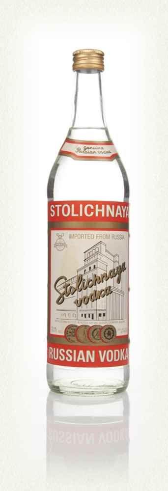 11 - Stolichnaya Red Vodka - Early 1980s