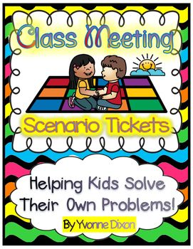 NEW!  CLASS MEETINGS...KIDS solving their own problems!   This packet is great whether you are a veteran teacher or a new teacher in the classroom.  Today we are all about teaching children how to identify their own problems and finding solutions to solve them.