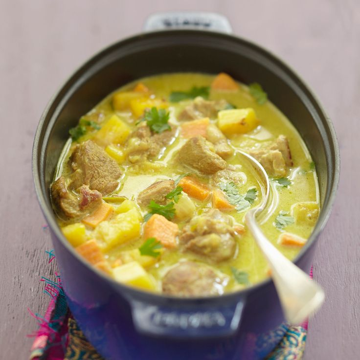 Découvrez la recette du curry d'agneau au lait de coco