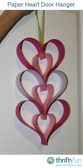 This simple heart decoration would be great to make with kids. You could even make it longer and use it as a garland.