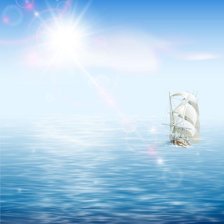 Картинка морской тематики к презентации, надписью все