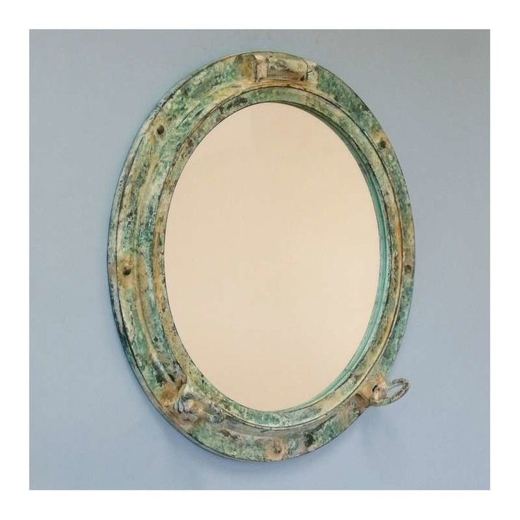 $255 This Titanic shipwrecked porthole mirror adds sophistication, style, and charm for those looking to enhance rooms with a nautical theme.This porthole has a sturdy, heavy and authentic appearance, yet it is made of resin and fiberglass to lower the weight and to allow for easy mounting. Eight solid metal bolts grace the border of the porthole. Impressive size yet affordably priced.
