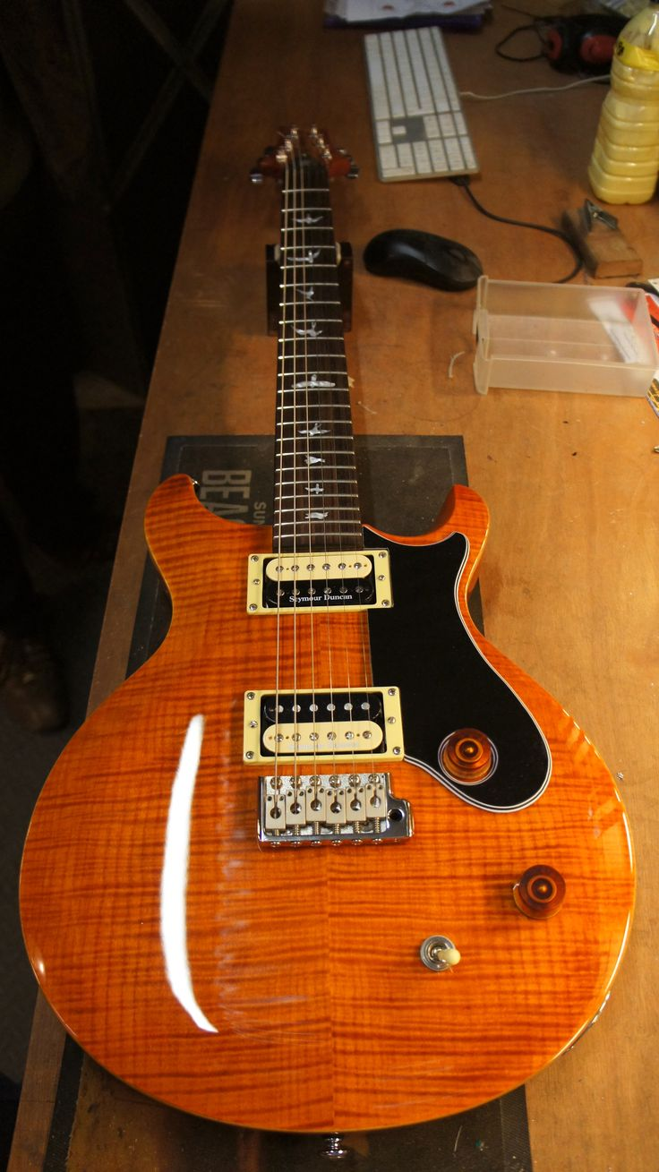A smaller custom pickguard can really add to the look of a