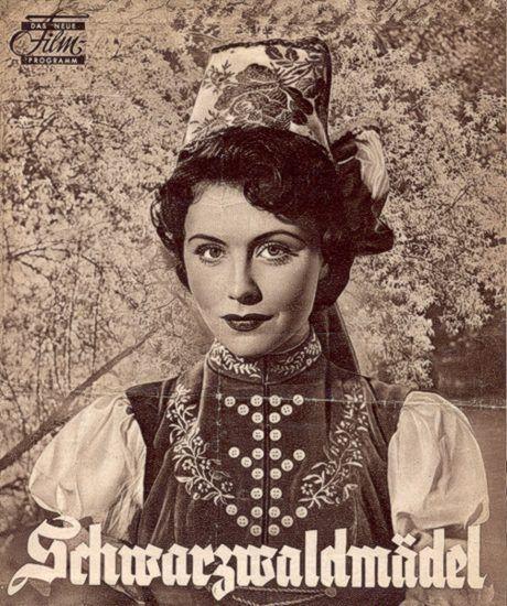 """Filmprogramm """"Schwarzwaldmädel""""  Verlag Das Neue Filmprogramm, Frankfurt am Main, 1950"""