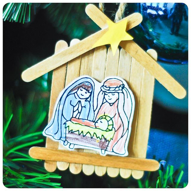 Great idea for a simple nativity ornament the kids could make