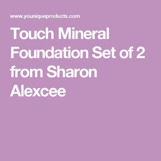 Touch Mineral Foundation Set of 2 from  Sharon Alexcee