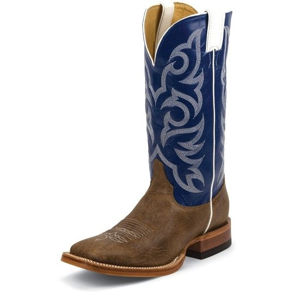 Justin Boots Men's Brown Delta Cowhide Justin Ranch Collection Boots ($280) ❤ liked on Polyvore featuring men's fashion, men's shoes, men's boots, men's work boots, mens western boots, mens square toe work boots, mens square toe boots, mens rugged boots and mens cowboy work boots