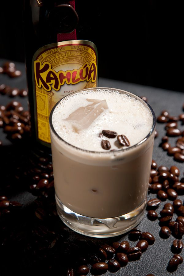 White Russian - 2 oz. vodka, 1 oz. kahlua, ice in glass and fill with milk or half in half