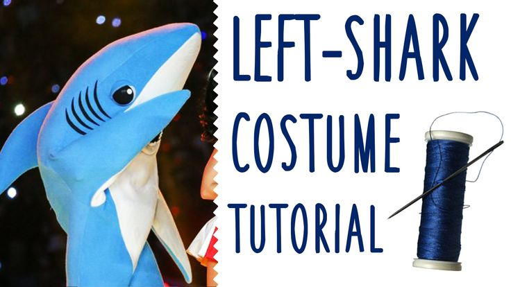It's a tutorial that teaches you how to make a Left Shark costume! #LeftShark