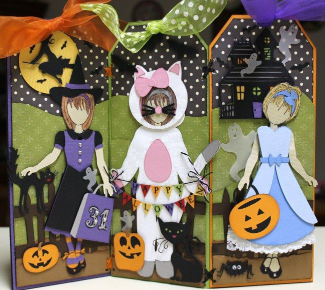 """Halloween """"Sweet Boo Crew"""" with Prima Paper Dolls and Silhouette"""