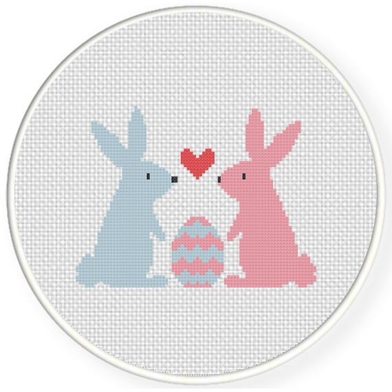 FREE for Feb 26th 2016 Only - Bunnies And Egg Cross Stitch Pattern