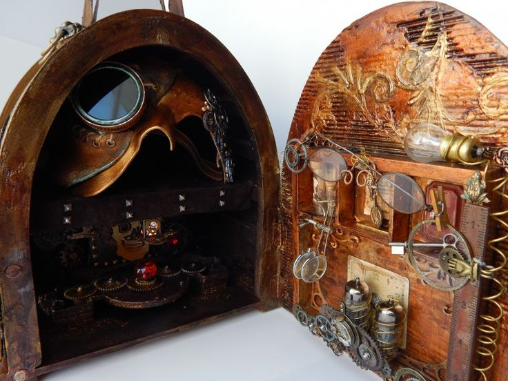 Steampunk mask and carrying case - DIY - 7gypsies