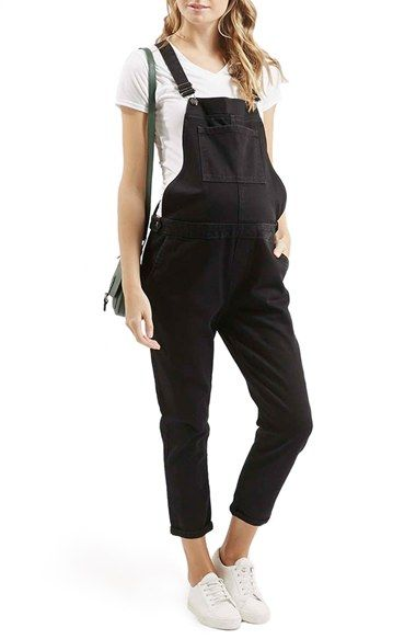 Topshop Denim Maternity Overalls (Black) available at #Nordstrom