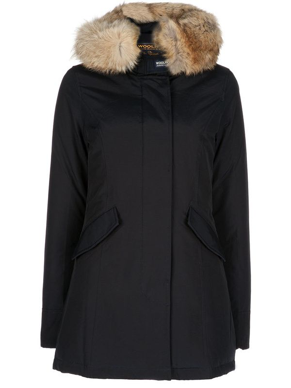 woolrich women parka goose Artie Parka down jacket winter women's medium  long artie down Coat black