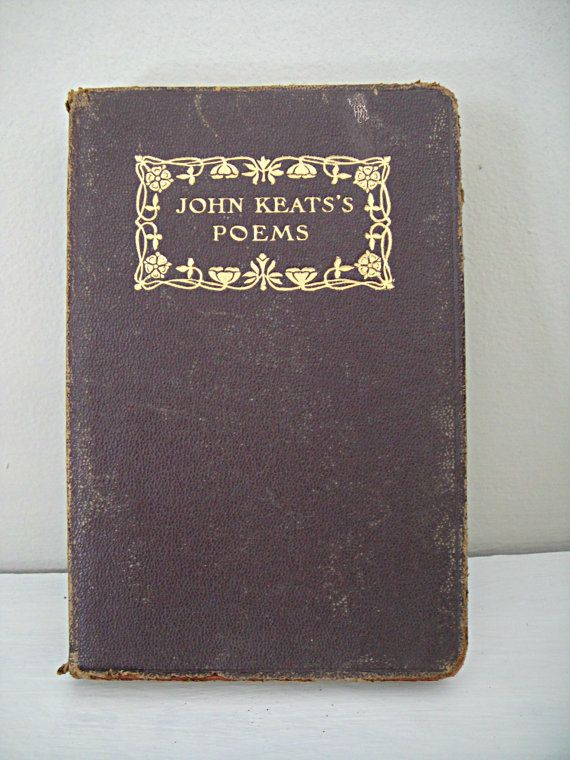 1800's Keats's Poems  LeatherBound John Keats by RustyNailDesign, $14.98