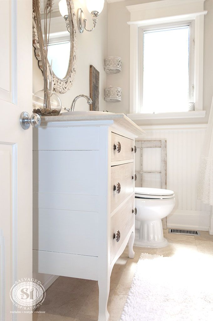 Salvaged Bathroom Reveal Bathe Pinterest Bathroom Vanities