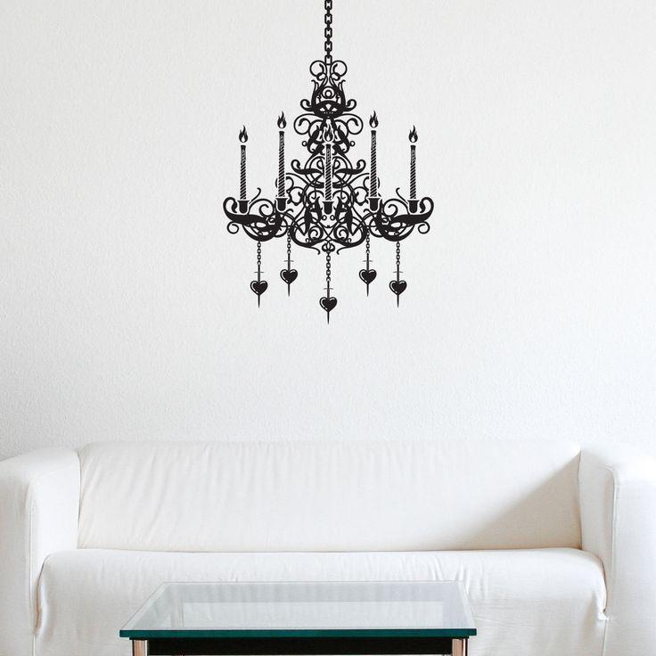 80 best interior sticker stencil images on pinterest wall chandelier vinyl wall art decal sticker mural very detailed design ebay mozeypictures Images