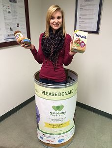 'Tis the season. Donate to your local food bank today! (and just FYI, while Megan is darling, most food banks would probably rather get actual food...)