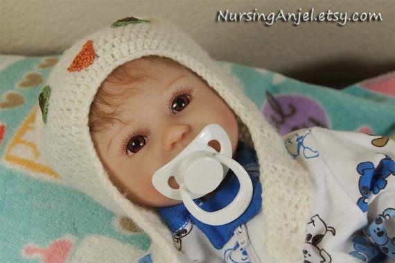 Poupée bébé Reborn garçon poupée Silicone Vinyl 18 par NursingAnjel