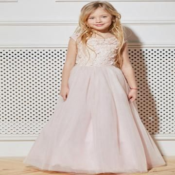 a20cf24329b Awesome A-Line Tulle Floor Length Flower Girl Dresses With Cap  Sleeves