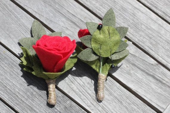 Custom Felt Flower Boutonniere to match your Custom Bouquet  https://www.etsy.com/listing/188187711/custom-felt-flower-boutonniere-to-match?ref=shop_home_active_1