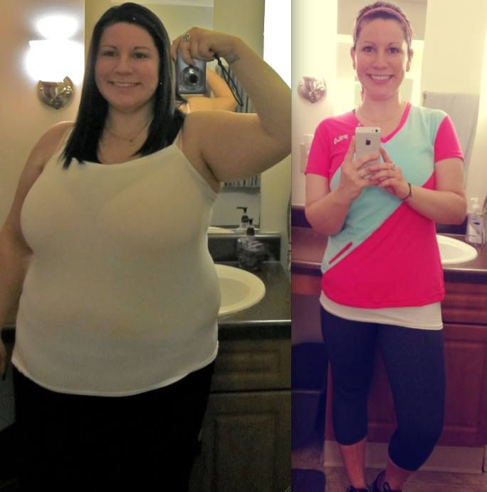 lost 75 pounds by following Weight Watchers and exercising