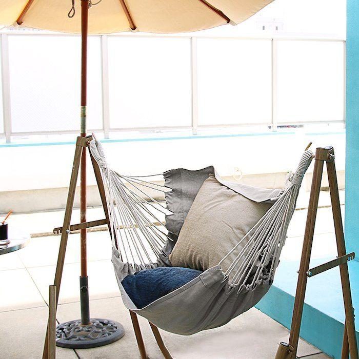 3WAY自立式ポータブルハンモックチェア(93002)【ハンモックチェアハンガーラック3way室内自立室内干しハンギングチェアスタンド組み立て持ち運び組立てアウトドアリゾート西海岸サーフビーチハウス庭テラス】