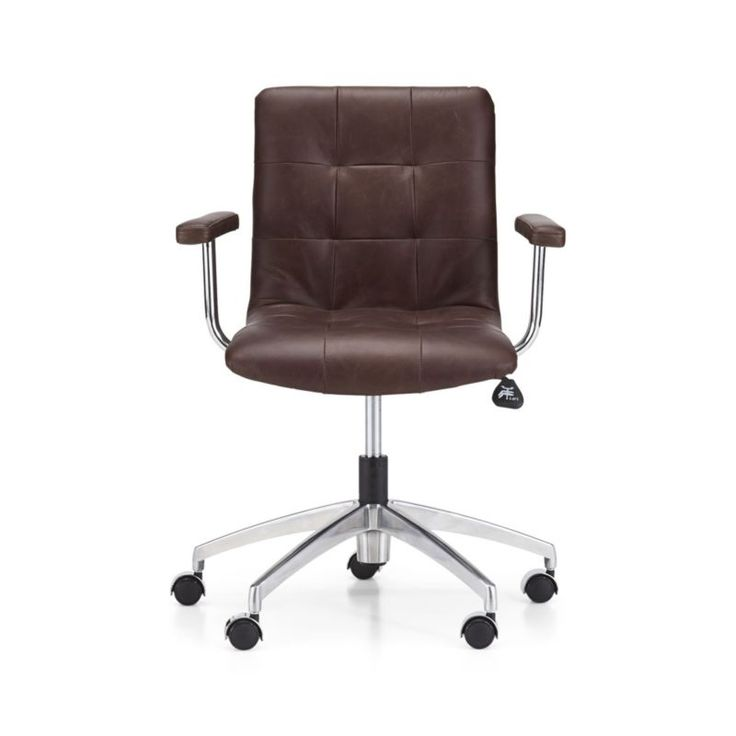 Navigator Saddle Brown Leather Office Chair - Crate and Barrel - Best 20+ Leather Office Chairs Ideas On Pinterest Office Chairs