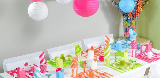 Decorazioni Righe colorate per compleanni con VegaooParty