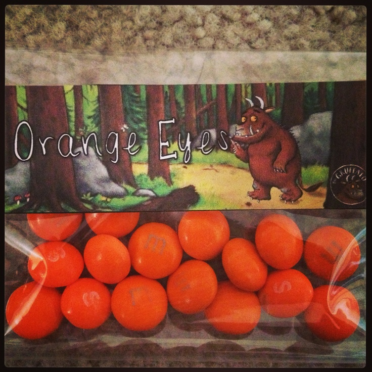 #gruffalo party bag items.