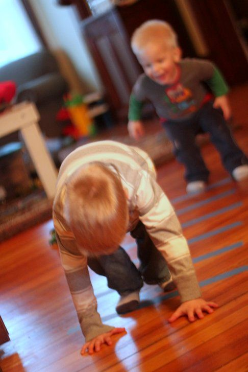 Gross Motor Activity: Tape Jumping Game