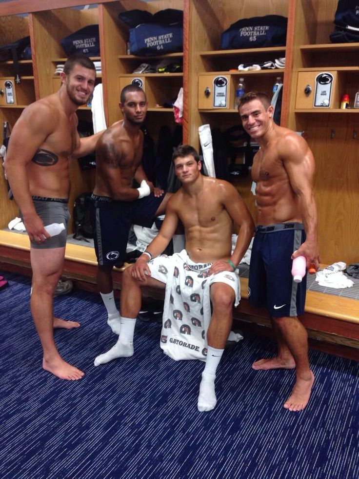 Football Players In Locker Room Photos