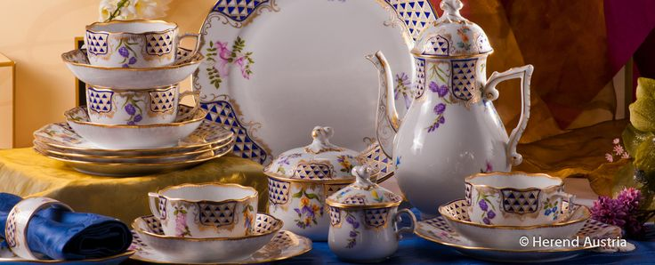 Coffee Service from #Herend Porcelain - #MTFC The set of German Dukes