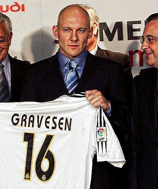 """Se cumplen 13 años del fichaje del mítico dorsal 16 del Real Madrid. Su """"Gravesinha"""" nunca será olvidada. Thomas Gravesen."""