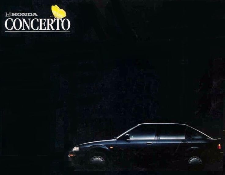 Honda Concerto Japan Brochure 1989