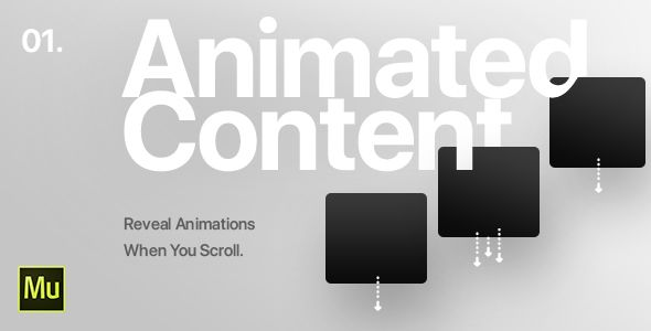 01 | Animated Content Widget for Adobe Muse CC | Design