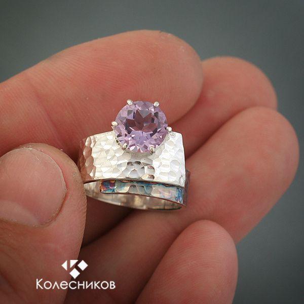 """Кольца ручной работы. Ярмарка Мастеров - ручная работа Кольцо """"Фиолетовый закат"""". Handmade."""