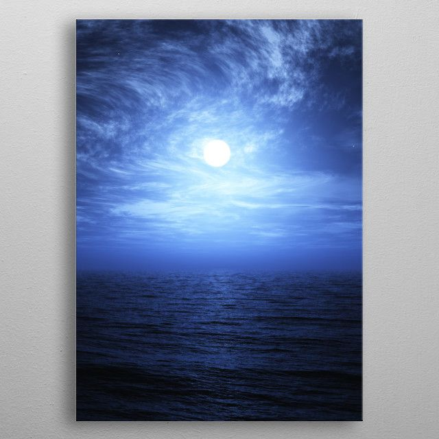 sky moon sea clouds scenery viewpoint horizon Landscapes