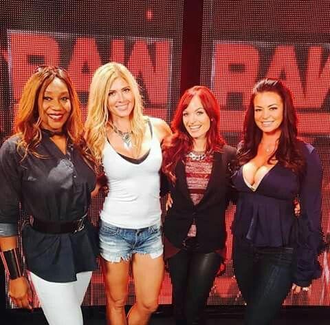 Sharmell, Torrie Wilson, Christy Hemme & Candice Michelle 😘 #WWE