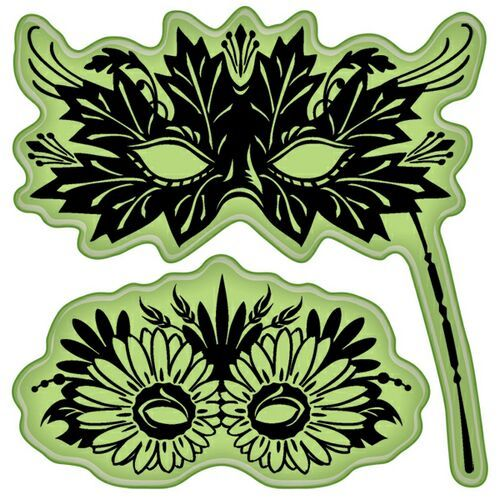 Inkadinkadoo- Stamps - Venetian Masks