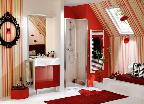 red bathroom ideas 2015 - Red Bathroom 2015