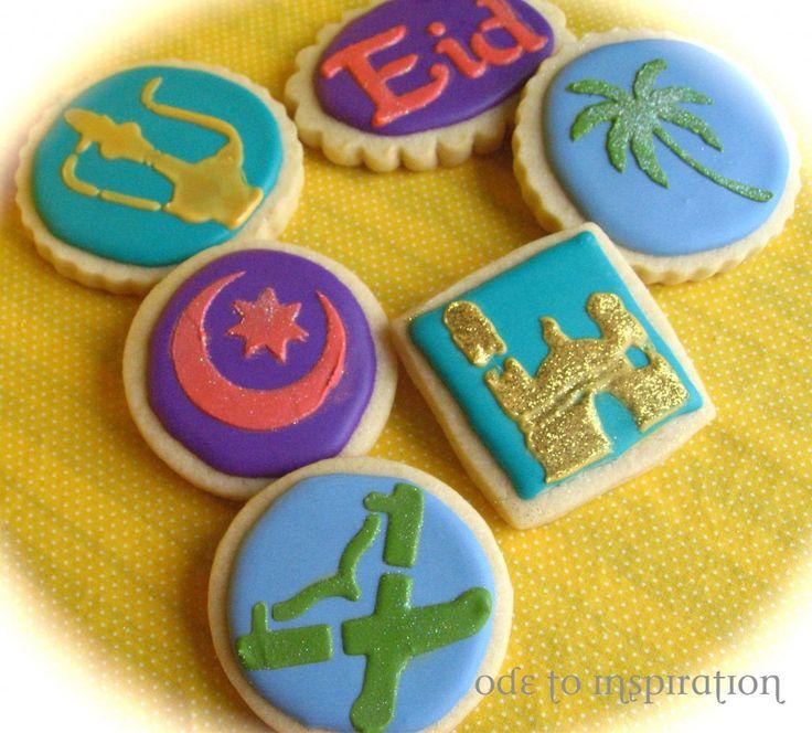 Stencil Eid Cookies  lovely idea for #grünebanane  http://www.gruenebanane.de