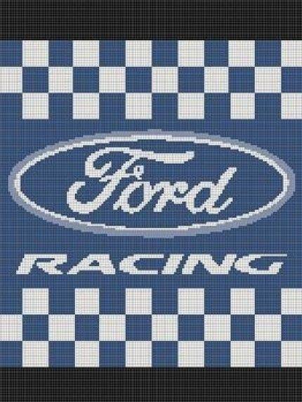 Crocheted Ford Emblem Pattern Crochet Patterns Ford
