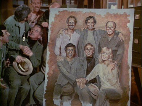 Colonel Potter's Painting of The Cast from Picture This