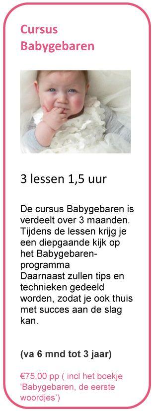 Doe mee met een cursus Babygebaren en leer in 3 lessen hoe je met je kindje kunt communiceren voordat ze kunnen praten!