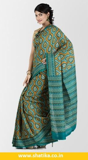 Shatika presenting pure handloom silk and cotton sarees for office purpose from India. Check out the wide range of designer office sarees, corporate sarees at Shatika for online shopping at the affordable price.