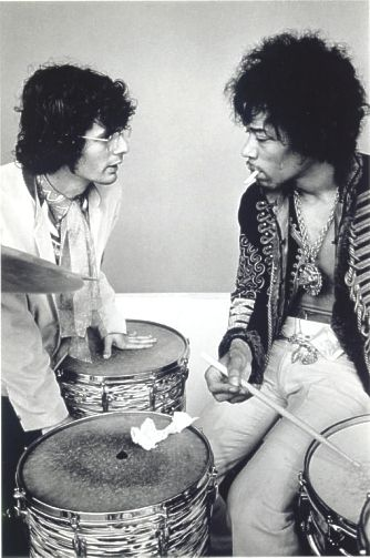 Jimi Hendrix (at the drum!) and Al Kooper (Blood Sweet and Tears) - Monterey Pop 'Soundcheck', (1967), Rare!.