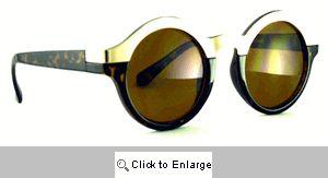New York Round Metal Bridge Sunglasses - 594R Tortoise