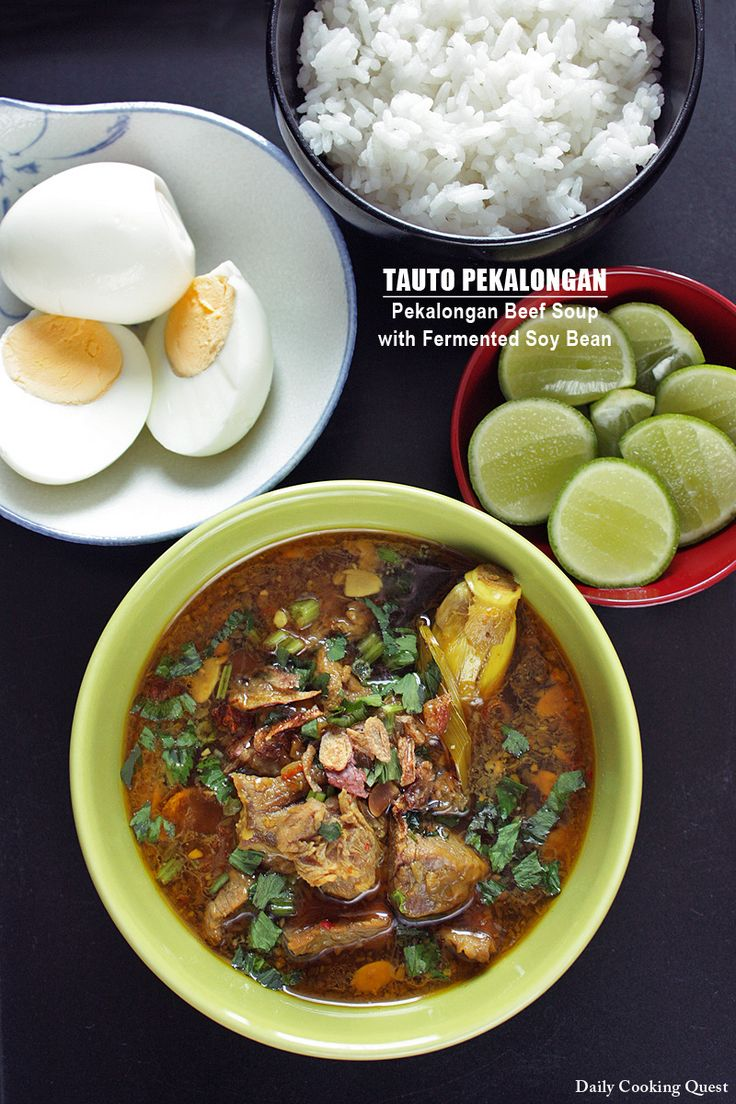 <p>Here is another famous soto (soup), this time from the city of Pekalongan in Central Java, a place famous for its batik and of course, soto Tauto is actually abbreviation of soto tauco, or I guess more precisely, tauco soto, and hence tauco (or fermented soy bean) is a must …</p>